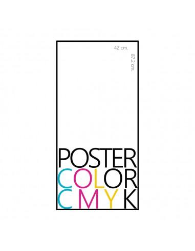 poster a color en couche de 47x82 cm.
