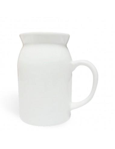jarra lechera de cerámica para sublimar
