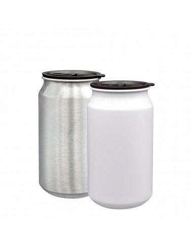 lata de aluminio color blanco para 350 ml. sublimación