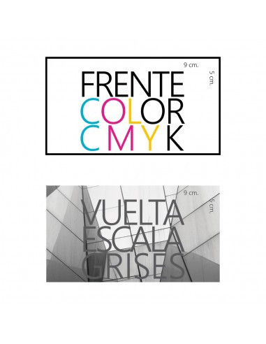 tarjetas de presentación frente color vuelta escala de grises