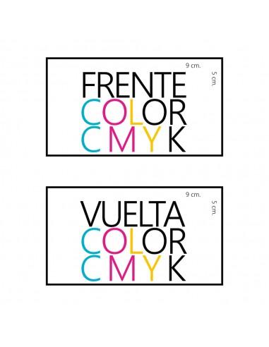 mil tarjetas sulfatadas a todo color ambos lados