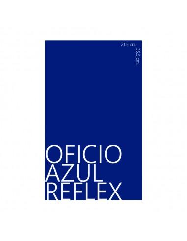 flyer azul reflex en papel bond 90 gr